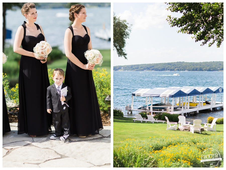 wedding ceremony on the lakefront at Lake Geneva, WI