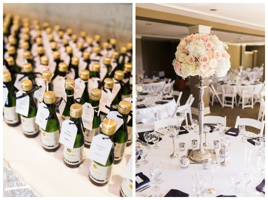 champaign guest favors at a Lake Geneva Wedding