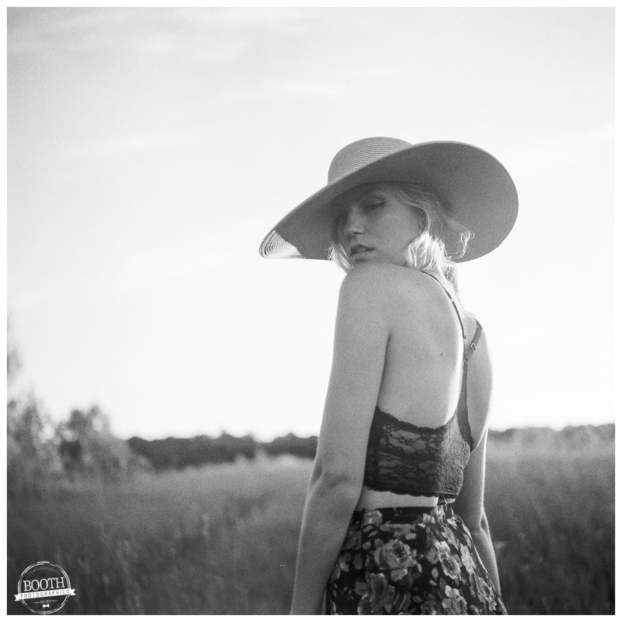 film portrait taken with a medium format Rolliflex camera