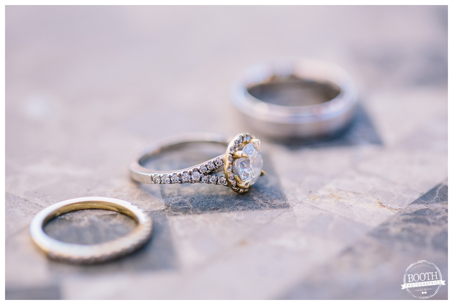 wedding rings at a Southern California Walnut Grove Wedding