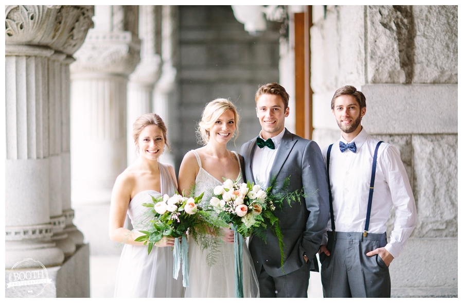 classy bridal party at a Milwaukee wedding