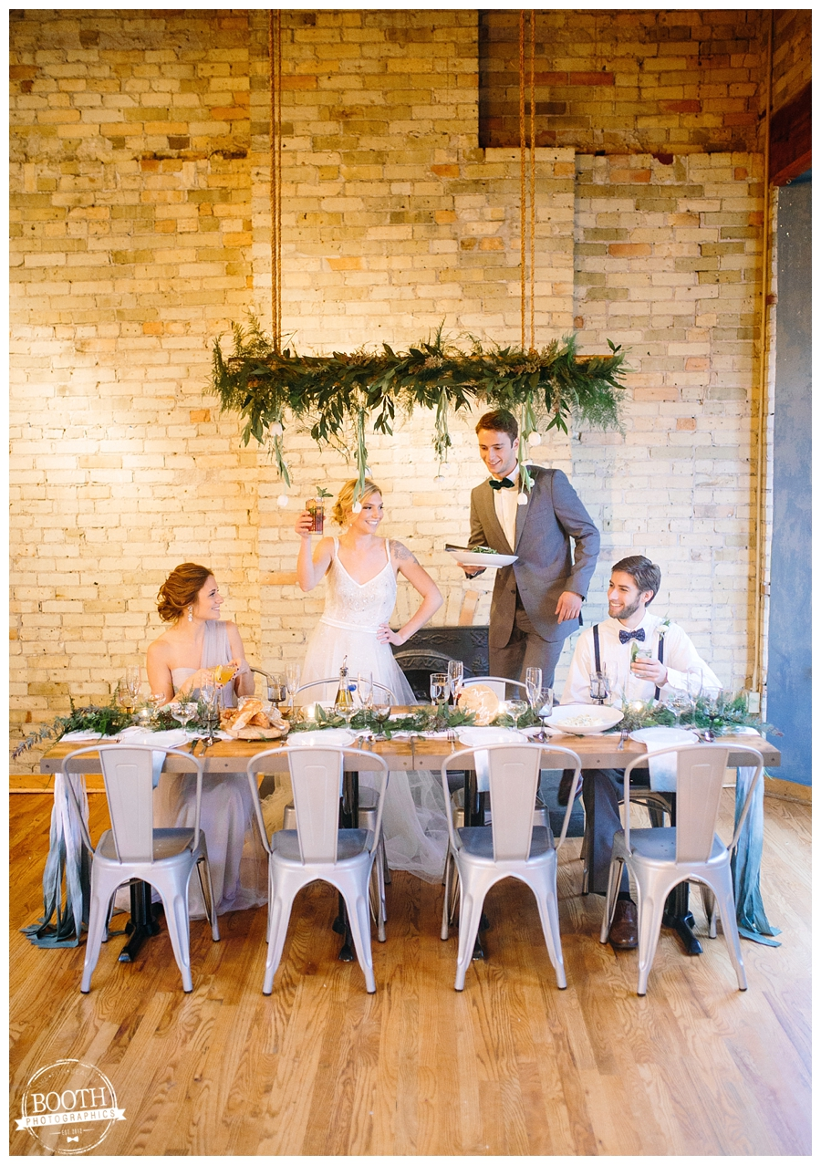 Casual and elegant Milwaukee Third Ward Loft Wedding reception