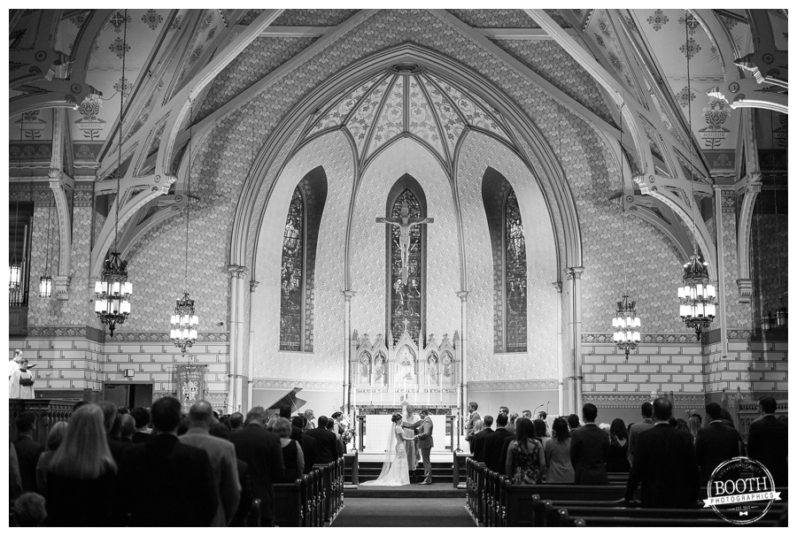 St. James Episcopal cathedral wedding ceremony, Chicago, IL