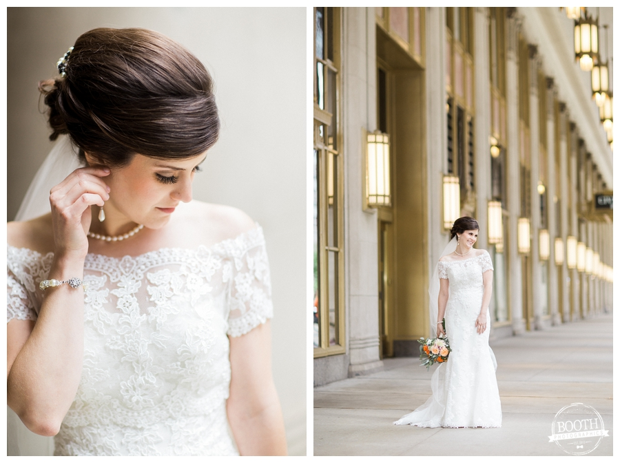 bride at the Lyric Opera in downtown Chicago, IL