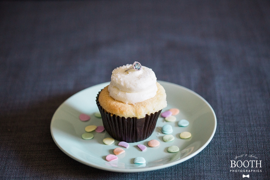 cupcake engagement ring photo