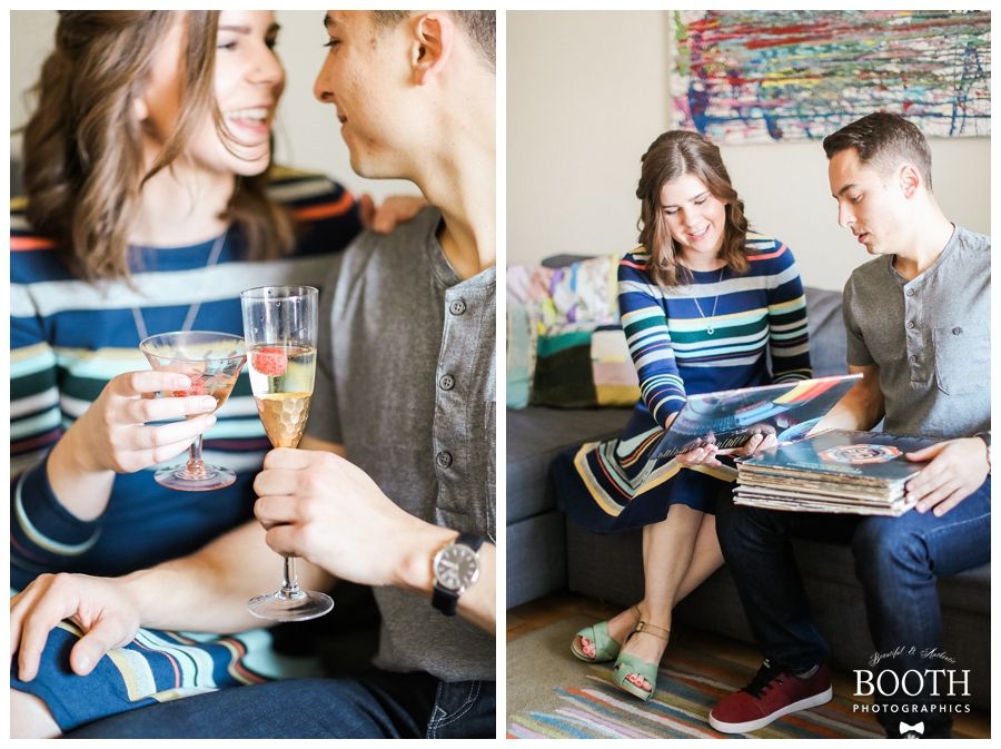 madison lifestyle engagement session