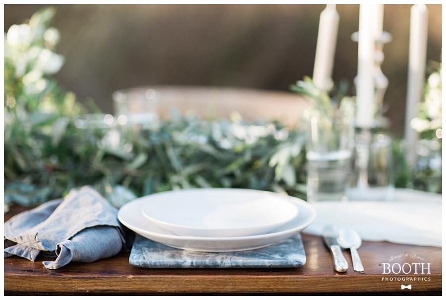 fine art wedding reception table