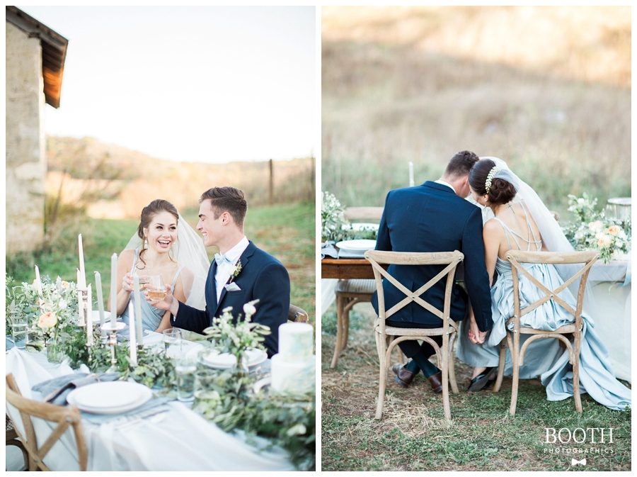 bride and groom enjoying their outdoor Wisconsin wedding