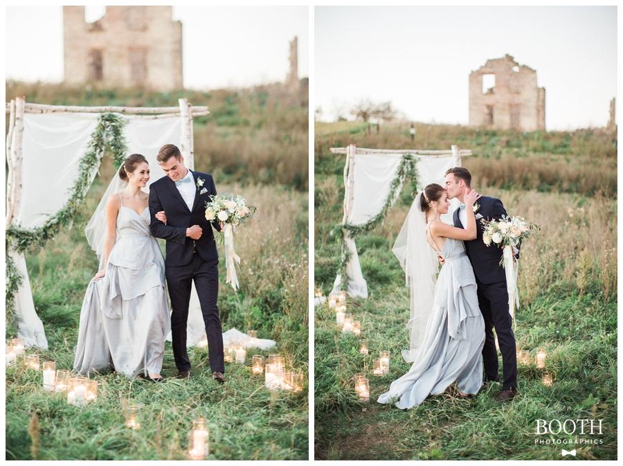 outdoor fine art wedding ceremony