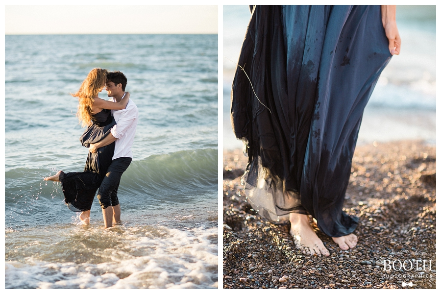 seaside engagement session at Warren Dunes State Park