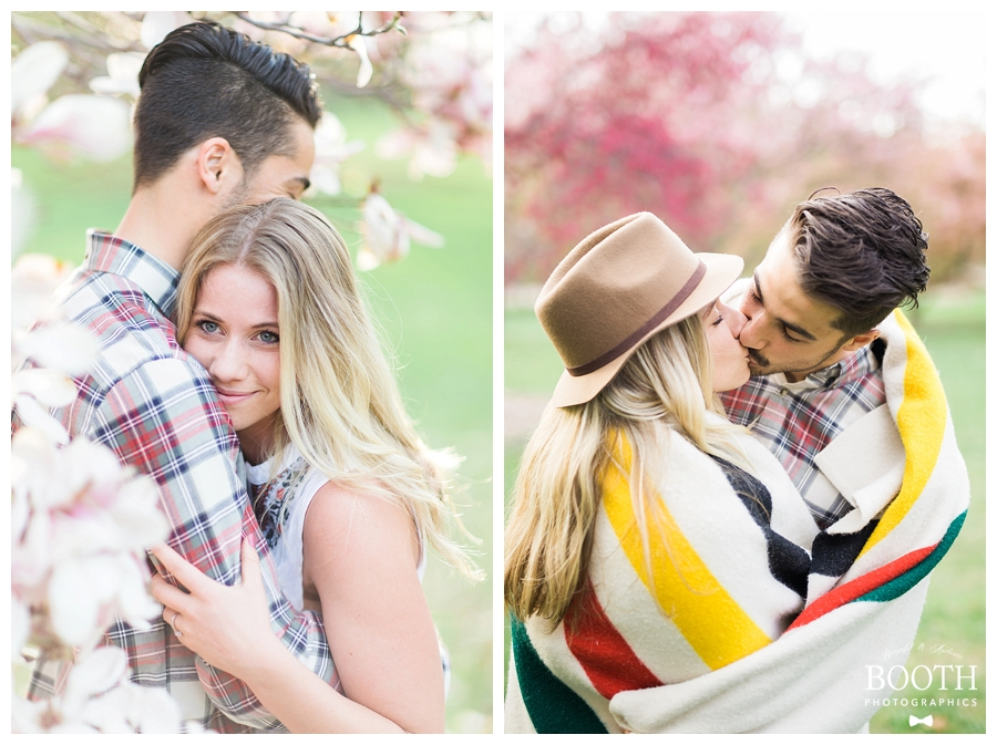 Kinfolk style engagement session with Pendleton wool blanket