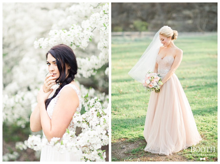 brides wearing BHLDN gowns