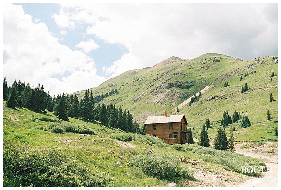cabin in the colorado Rocky Mountains by fine art film photographers, Booth Photographics