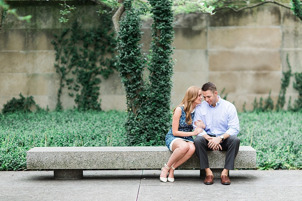 Fine art Chicago Grant Park engagement photography