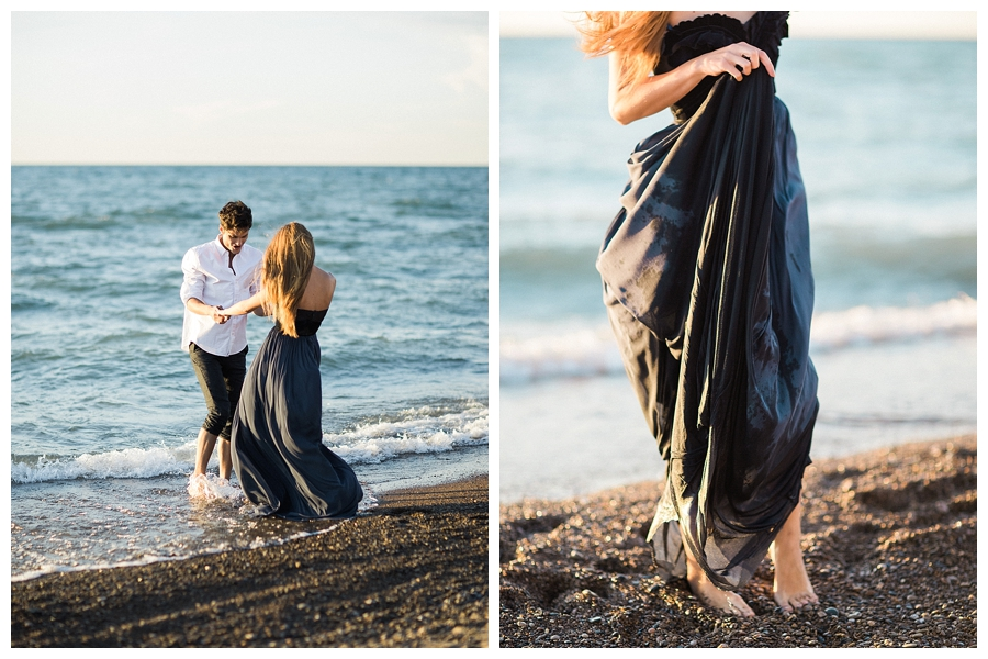 Fine art photography of a Lake Michigan elopement
