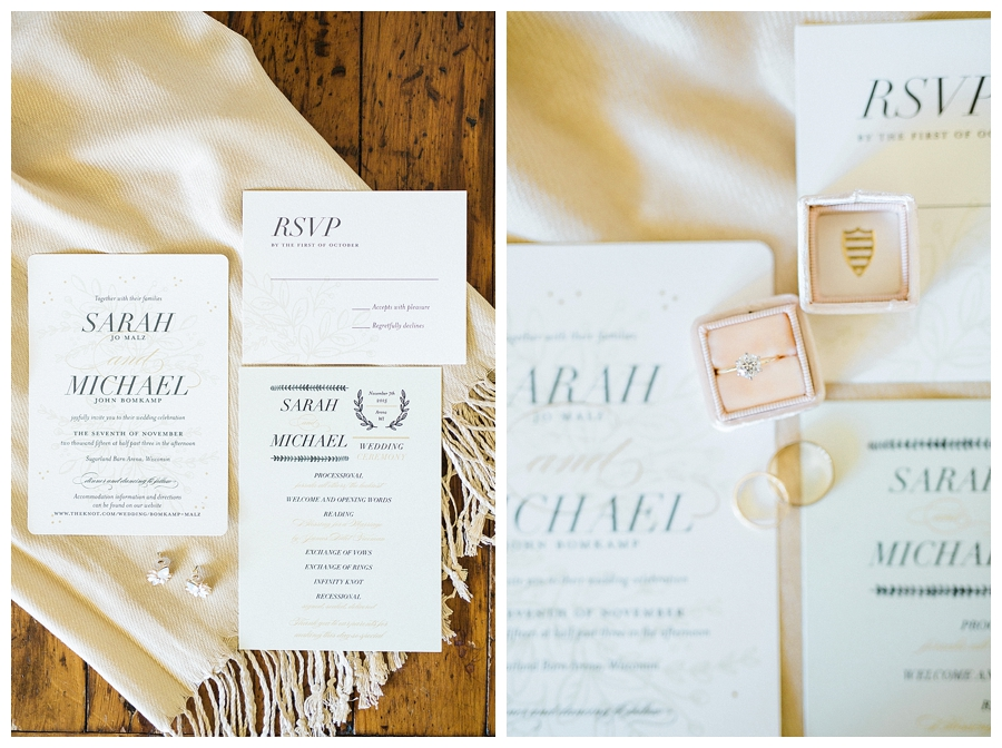 rustic fall wedding invitation suite