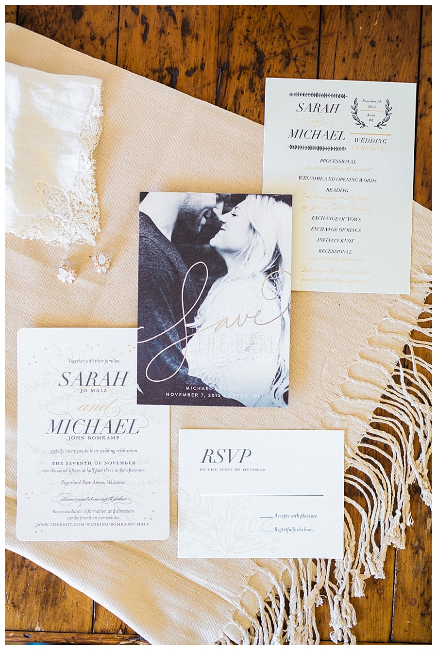 wedding stationary suite for a rustic outdoor fall wedding