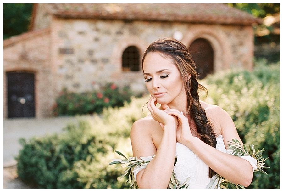fine art bridal session at a napa valley winer