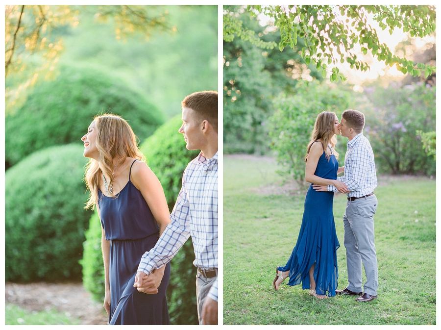 fine art outdoor garden engagement session