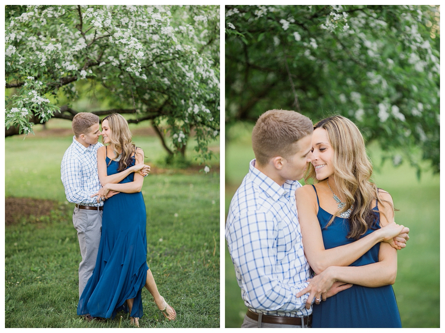 organic fine art engagement session in a garden