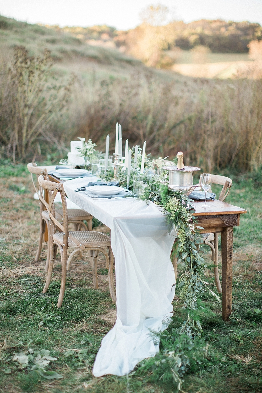 fine art wedding reception