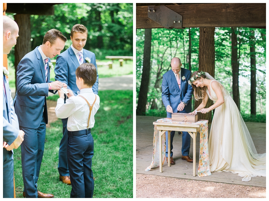 fine art photography of outdoor Lake Michigan wedding