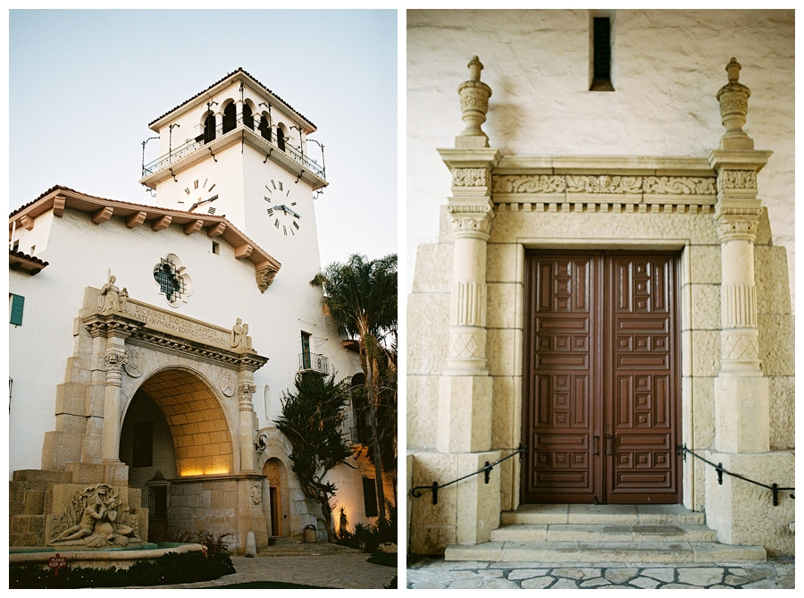 fine art travel film photography of Santa Barbara Town Hall