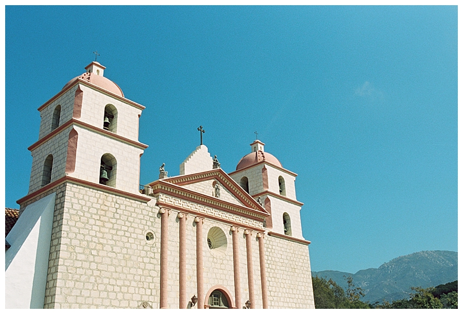 fine art travel film photography of Santa Barbara Mission