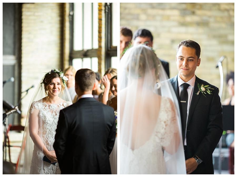 fine art wedding ceremony at Pritzlaff Events