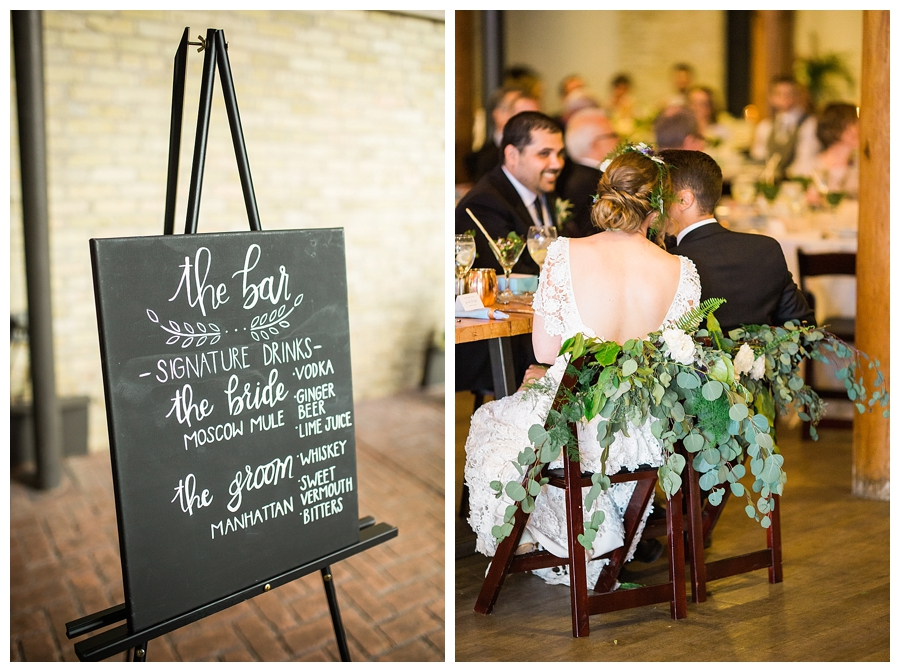 fine art photography of organic wedding reception at Pritzlaff Events