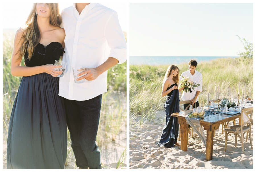 fine art wedding photography at Warren Dunes State Park, Michigan