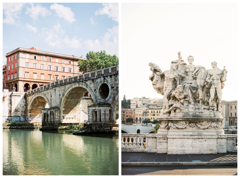 fine art travel photography of the Tiber River in Rome