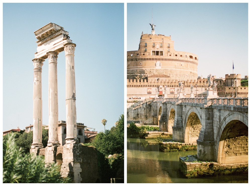 fine art travel photography of the colosseum and Roman forum