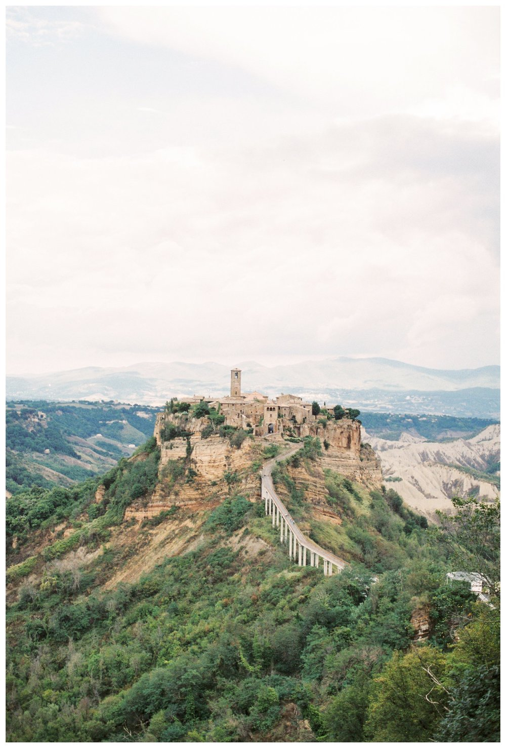 travel photography of the ancient village of Civita di Bagnoregio in Umbria, Italy