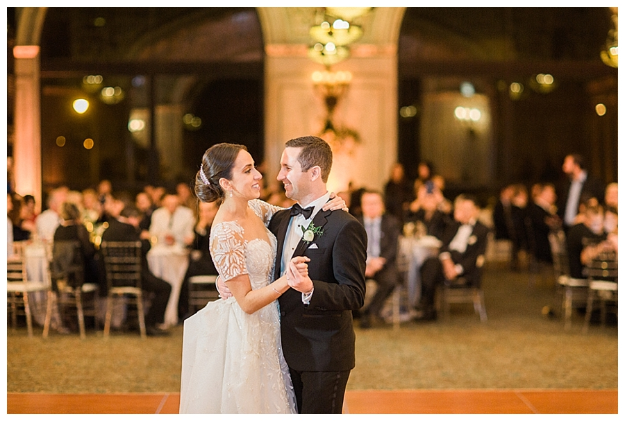 fine art wedding photography of dancing at the Chicago Cultural Center, Chicago