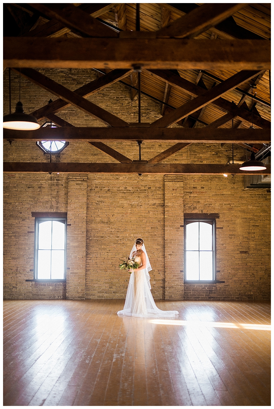 fine art photography of bride for their historic warehouse wedding at the Lageret