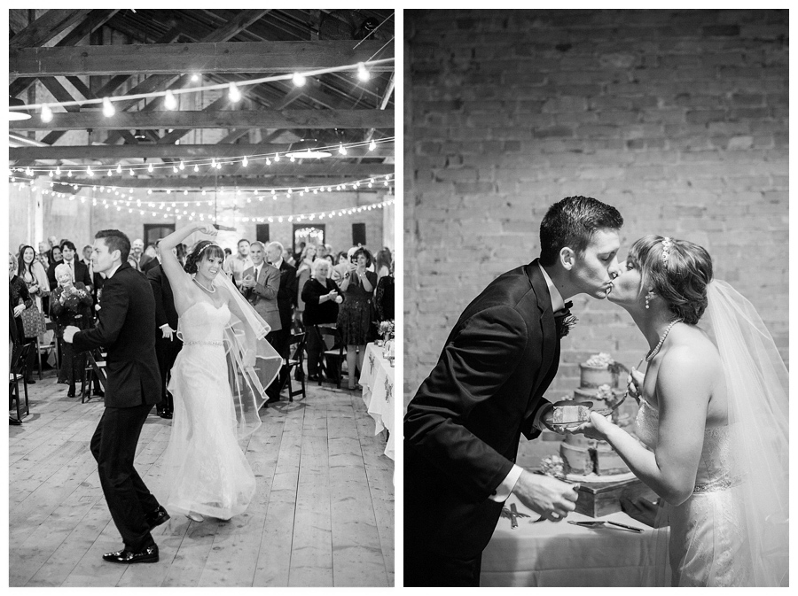 fine art wedding photography of winter wedding reception at the Lageret