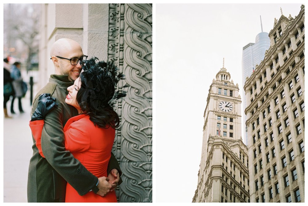 fine art wedding photography at the Wrigley building Chicago