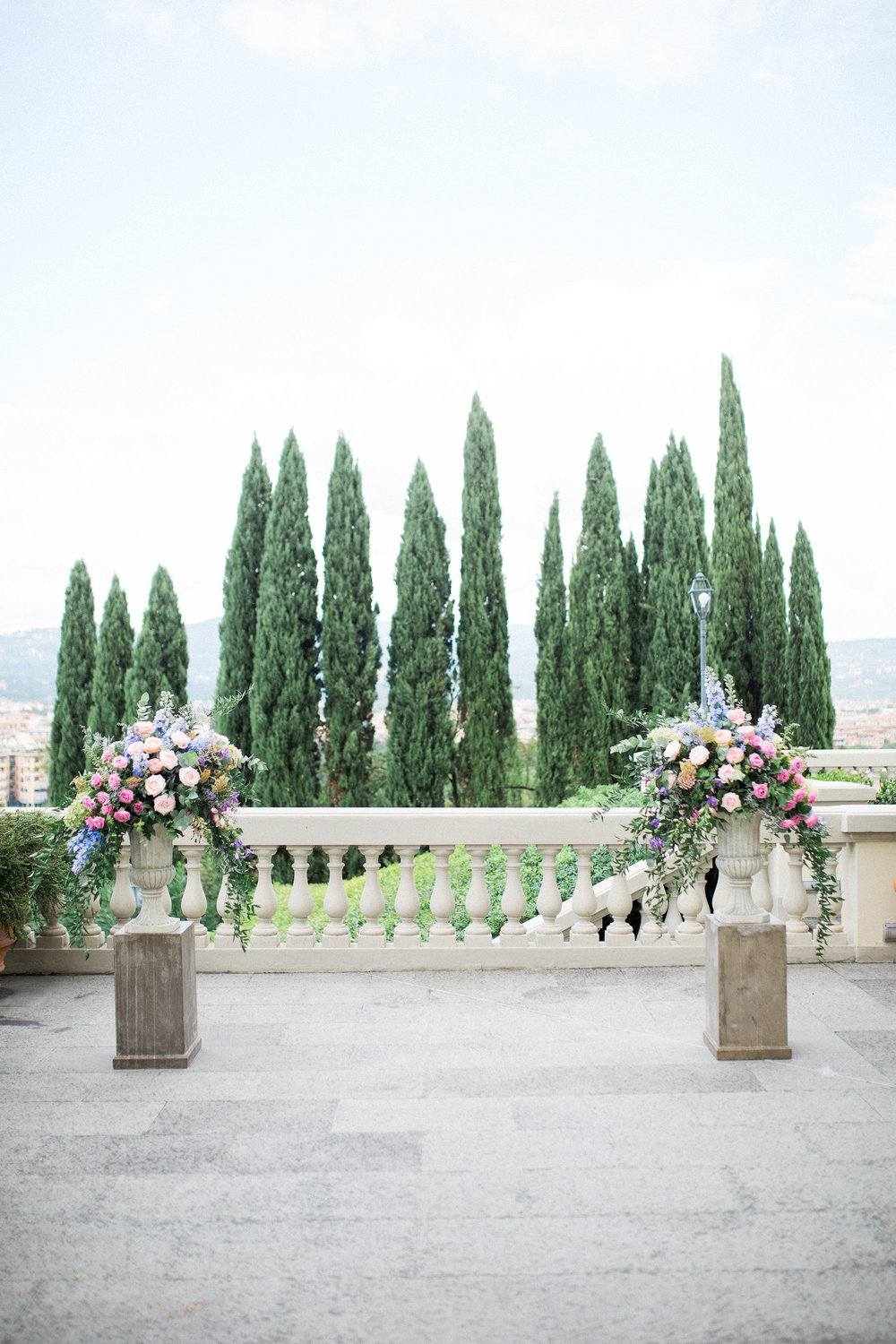 outdoor florence, italy destination wedding ceremony