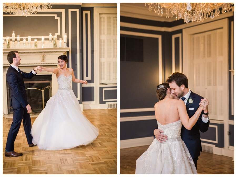 Bride and groom first dance at the Madison Club