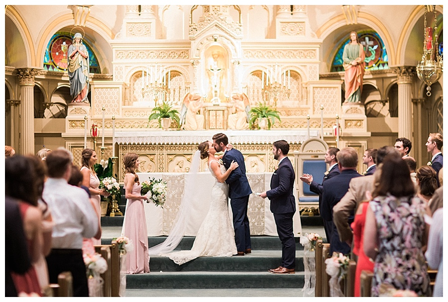 Catholic wedding ceremony at Old St. Mary's, Milwaukee