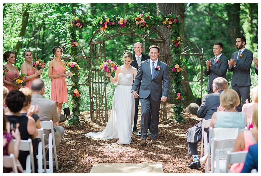 outdoor wedding ceremony at the Farm at Dover