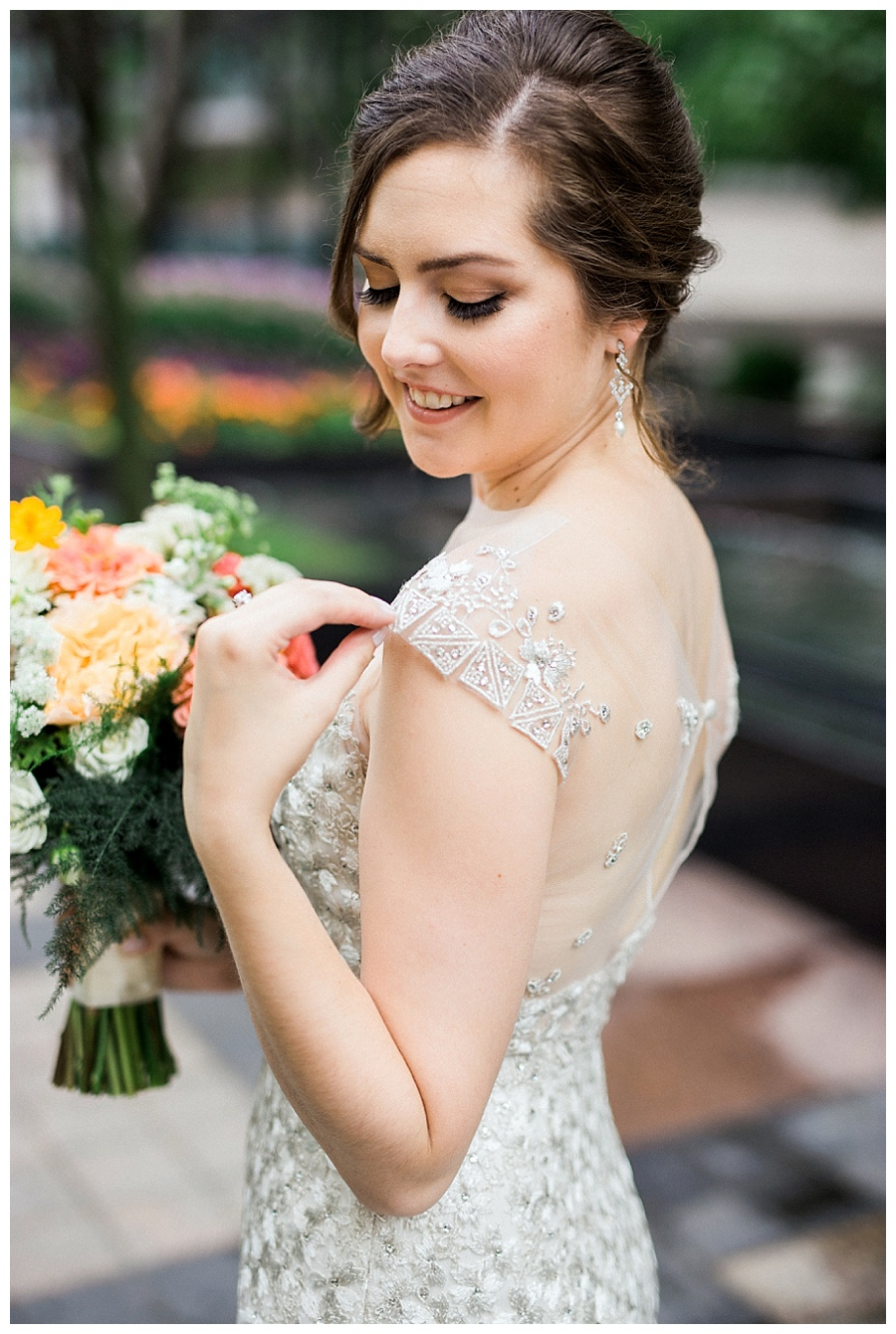 Chicago Bride wearing Lian Carlo wedding gown