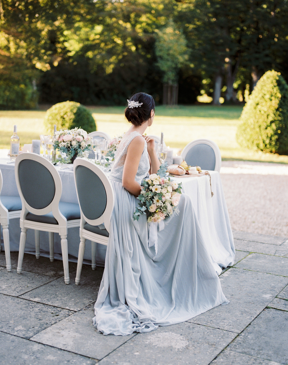 Elegant Wedding at a French Chateau → -