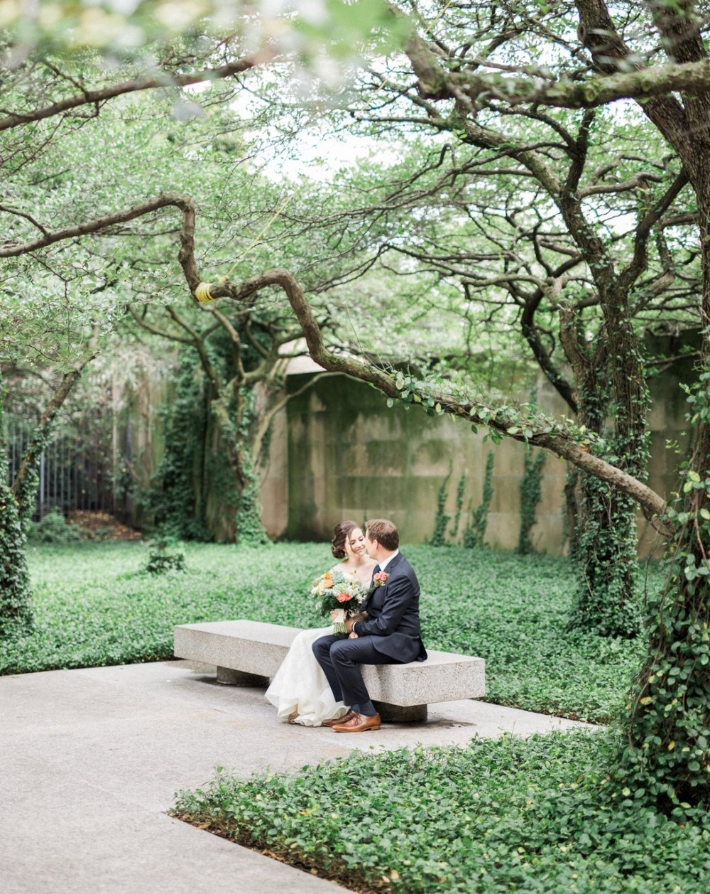 Chicago Urban Garden Wedding  → -