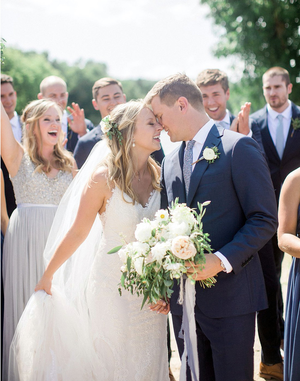 Relaxed Outdoor Wedding in Door County → -