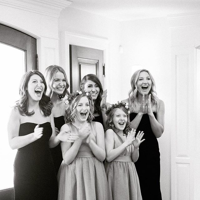 Here comes the bride! #firstlook #bride #bridalparty #milwaukeewedding #wedding #weddingday