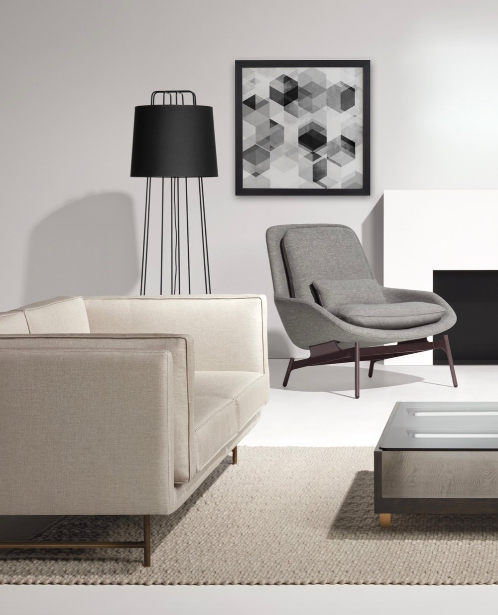 Do you need help planning your room? - At Hub Modern we offer complimentary design services including space planning, furniture and fabric selection and we can help choose rugs, lighting and home accents. We will even help you select the perfect paint colors for your home.Stop in or contact us to schedule an in-home consultation.