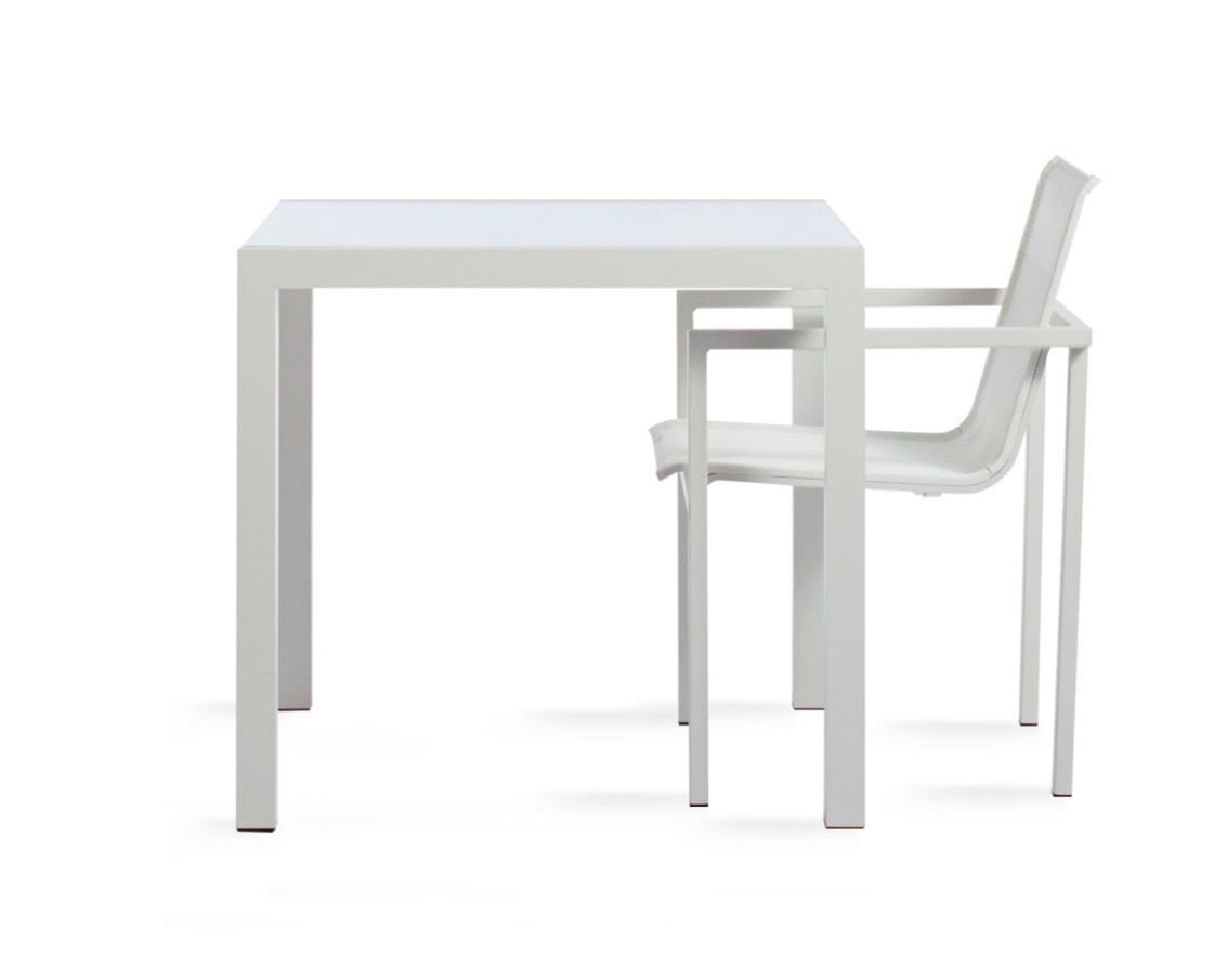 Skiff square outdoor table by blu dot