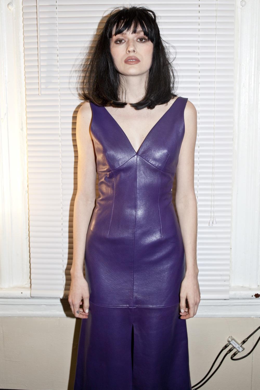 LAMBSKIN PORPORA DRESS